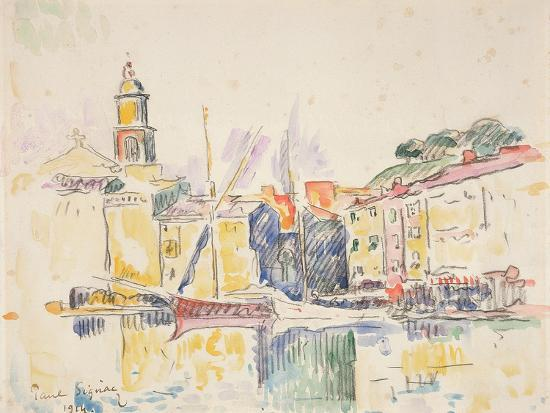 French Port of St. Tropez, 1914-Paul Signac-Giclee Print