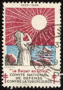 French Postage Stamp Promoting Sunlight to Fight Tuberculosis