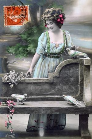 French Postcard, C1900--Giclee Print