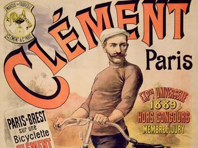 Poster Advertising Clement Bicycles, 1889 (Colour Litho)