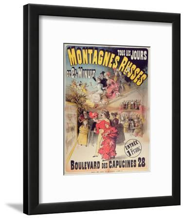 Poster Advertising the 'Montagnes Russes' Roller Coaster in the Boulevard Des Capucines, Paris 1888