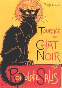 French Poster for Chat Noir Cabaret