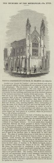French Protestant Church, St Martin-Le-Grand--Giclee Print