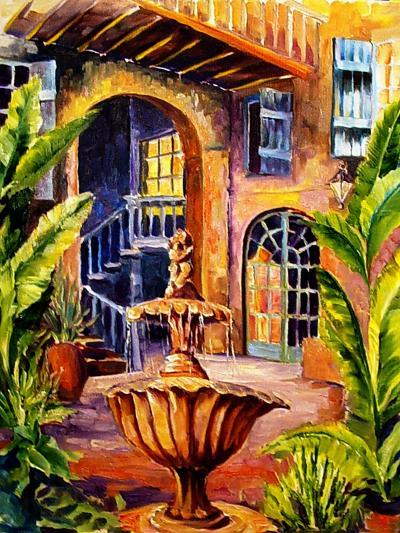 French Quarter Courtyard in New Orleans-Diane Millsap-Art Print