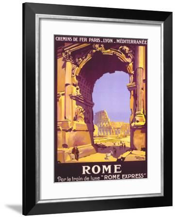 French Railway Travel, Rome Express--Framed Giclee Print