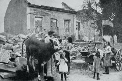 French Refugees Return to their Abandoned Village, Artois, World War I, 1915--Giclee Print
