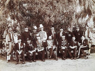 French Regent of Tunis Pierre Millet and His Headquarters' Staff, 1881, Colonial Wars, Tunisia--Giclee Print