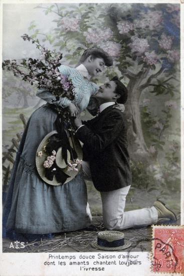 French Romantic Postcard, C1900--Giclee Print