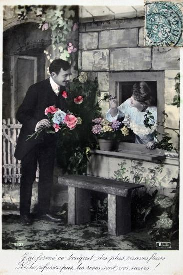 French Romantic Postcard, C1900--Giclee Print