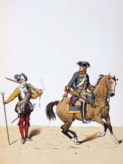 French Royal Troops, C1750-A Lemercier-Giclee Print