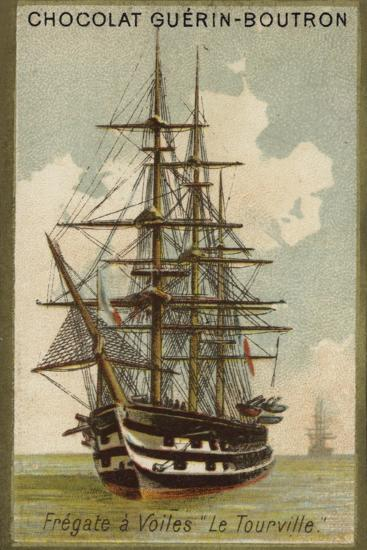 French Sailing Frigate Tourville--Giclee Print