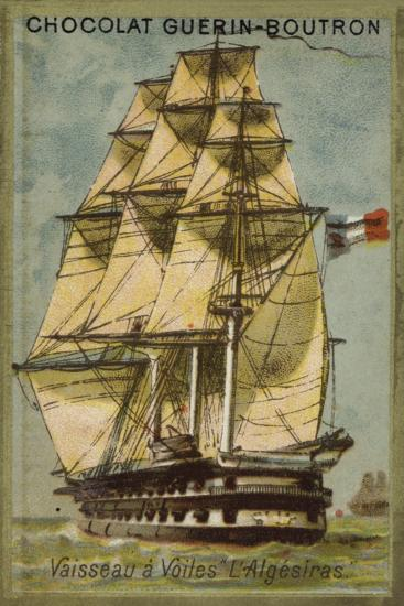 French Sailing Ship Algesiras--Giclee Print