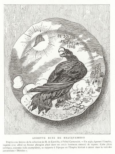 French Satirical Plate, 1868--Giclee Print