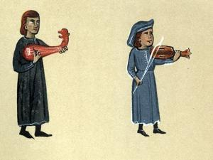 A Troubadour of the Middle Ages, illustration from 'Histoire de la Literature Francaise' by French School