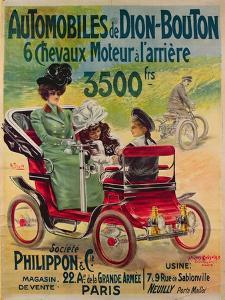 Advertisement for de Dion-Bouton Automobiles, c.1900 by French School