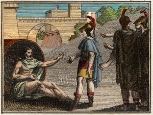 Alexander the Great (Alexander III of Macedon (356-323 BC) visiting Diogenes of Sinope by French School