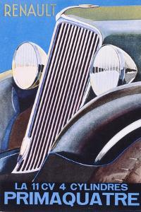 Brochure Advertising the Renault Primaquatre Automobile, c.1930 by French School