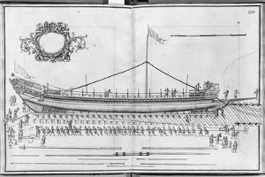 Building, Equipping and Launching of a Galley, Plate Xiv by French School