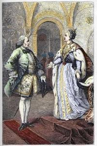 Denis Diderot (1713-1784) and Impress Catherine II (1729-1796) by French School