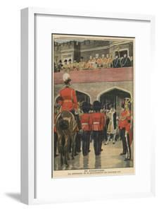 England, Proclamation of the New King George V by French School
