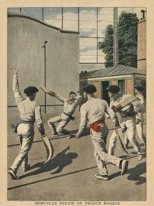 Fatal Basque Pelota, Illustration from 'Le Petit Journal', Supplement Illustre, 26th May 1907 by French School