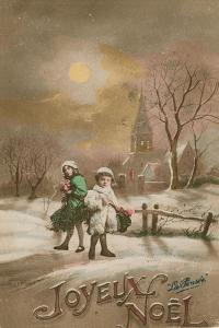 Happy Christmas. Postcard Sent in 1913 by French School