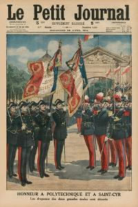 Honour to Polytechnique and Saint-Cyr, Front Cover Illustration from 'Le Petit Journal',… by French School