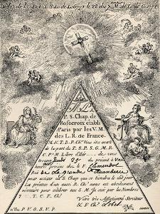 Invitation from the French Chapter of the Freemasons, 1771, from 'The Freemason', by Eugen… by French School
