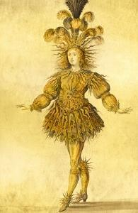King Louis Xiv of France in the Costume of the Sun King in the Ballet 'La Nuit', 1653 by French School
