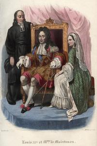 Louis XIV (1638-1715) and Francoise d'Aubigne, marquise de Maintenon (1635-1719) by French School