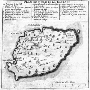 Map of Barbados by French School