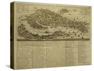 Map of Venice, Published by H. Chatelain in Amsterdam, 1728 by French School