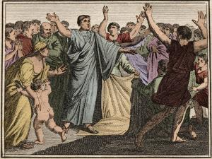 Marcus Tullius Cicero (106-43 BC), Roman statesman, orator, and author, returning to Rome (77 BC) by French School