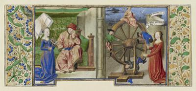 Miniature from Boethius, Consolation de philosophie, c.1460-70