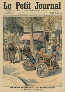Modernisation of the Street Jobs, the Knife Grinder in His Car by French School