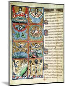 Ms 1 f.4v The Creation of the World, from the Souvigny Bible by French School