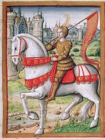Ms 17 F.76 Joan of Arc from 'Vie Des Femmes Celebres', C.1505
