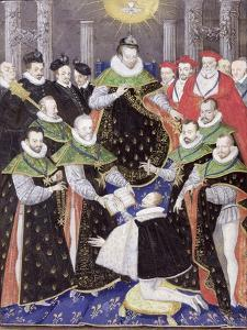 Ms 408/1574 Henri III (1551-89) at the First Chapter of the Holy Spirit by French School