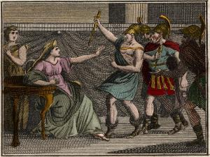 Murder of Olympias (mother of Alexander Great) by French School