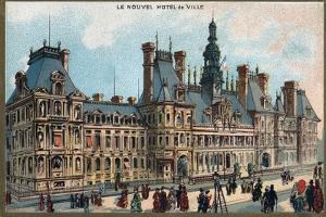 Paris Universal Exhibition of 1889 : City Hall in Paris by French School