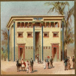 Paris Universal Exhibition of 1889 : Egyptian House by French School