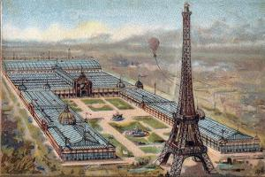 Paris Universal Exhibition of 1889 : Eiffel Tower by French School