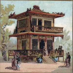 Paris Universal Exhibition of 1889 : The Japan Pavilion by French School