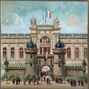 Paris Universal Exhibition of 1889 : The Palace of the War ministery by French School