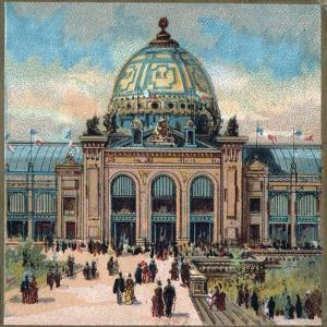 Paris Universal Exhibition of 1889 : View of the Palais des Beaux arts by French School