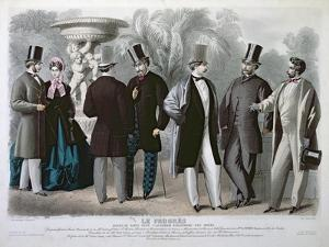 Parisian Fashion Plate for 'Le Progres', June 1864 by French School