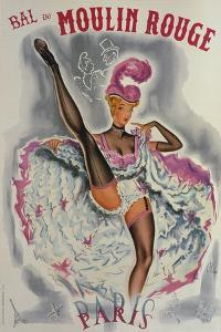 Party at the Moulin Rouge by French School
