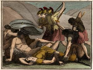 Persian Wars Battle of Thermopylae 480 BC The Spartan king Leonidas and his men fall in the battle by French School