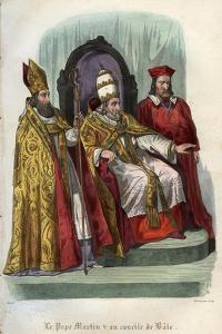 Pope Martin V (1368-1431) at the Council of Basel (Concile de Bale) in 1431 by French School