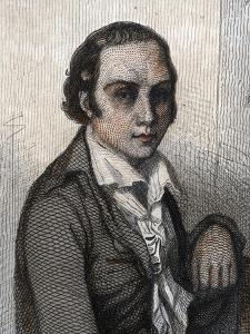 Portrait of Andre Marie Chenier (1762-1794), French poet by French School